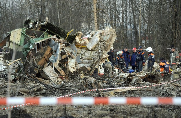 Wrak tupolewa /AFP