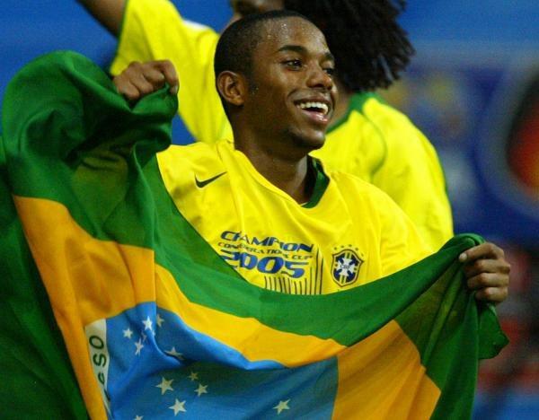Wschodząca gwiazda brazylijskiej piłki Robinho /AFP