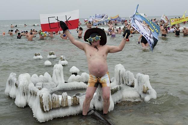 Wspólna kąpiel uczestników IX Międzynarodowego Zlotu Morsów/ fot. Adam Warżawa /PAP