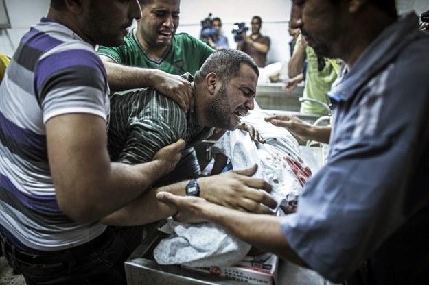 Wstrząsająca relacja z Gazy. Ojciec miał szczątki syna w torbie