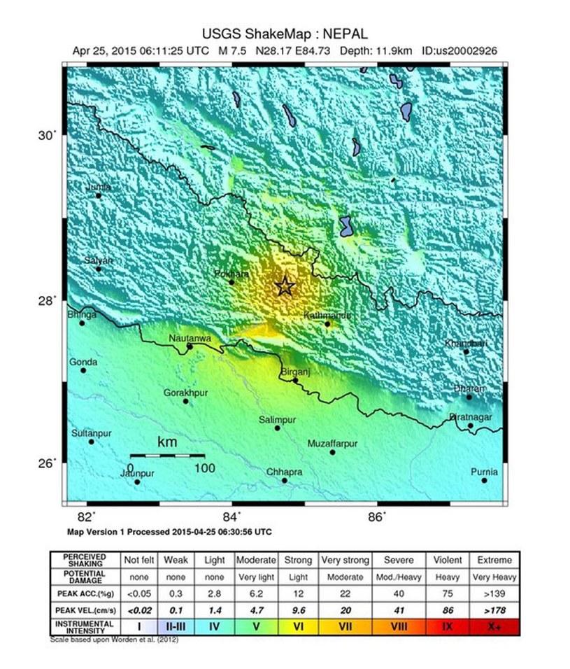 Wstrząsy miały siłę 7,5 stopnia w skali Richter /PAP/EPA