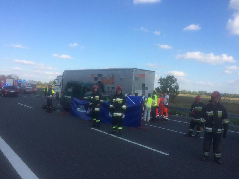 Wszystkie ofiary śmiertelne to pasażerowie busa /Krzysztof Kot /RMF FM