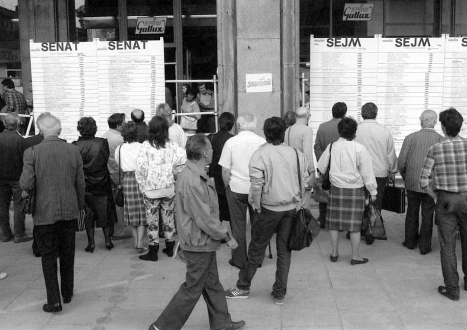 Wybory 89 / JANUSZ MAZUR /PAP