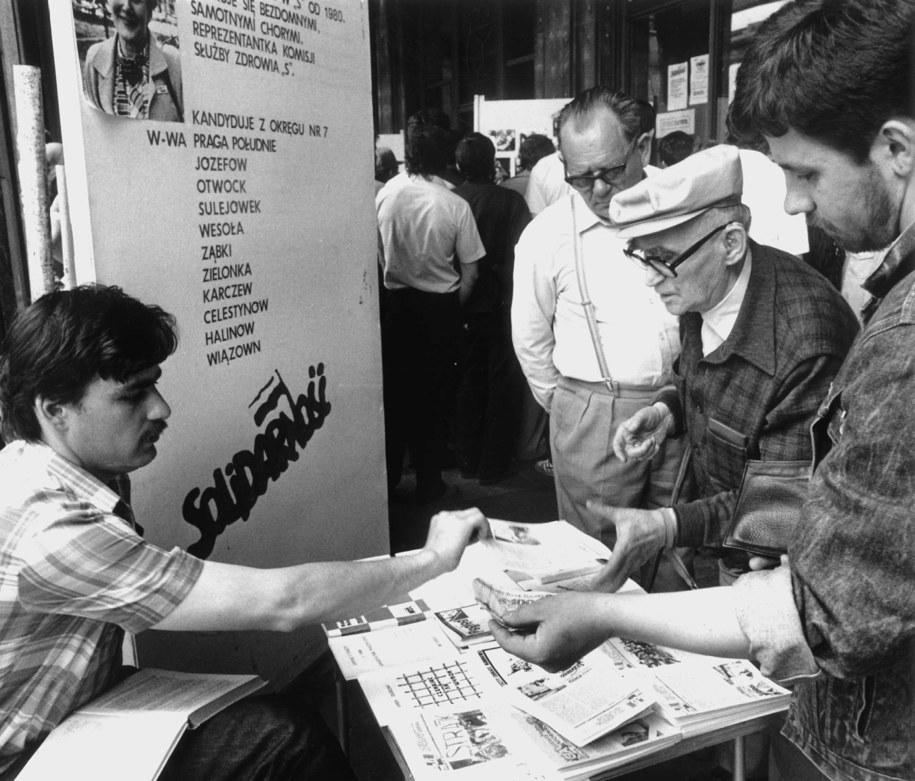 Wybory z 4 czerwca 1989 roku (zdj. historyczne) /Maciej Macierzyński /PAP