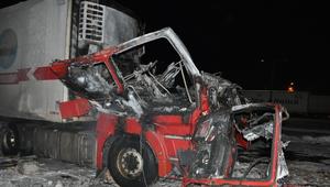 Wybuch ciężarówki. 41-letni kierowca trafił do szpitala