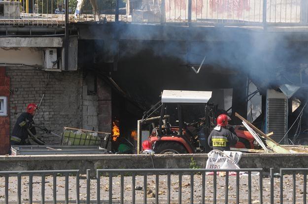 Wybuch spowodował 47-latek, poszukiwany w związku ze znalezieniem zwłok żony/fot. Wojciech Pacewicz /PAP