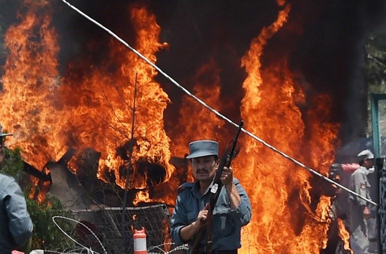 Wybuch w Kabulu /AFP