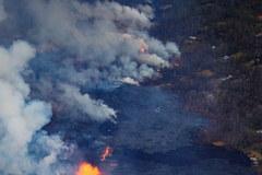 Wybuch wulkanu na Hawajach. Dramatyczne zdjęcia robione z powietrza
