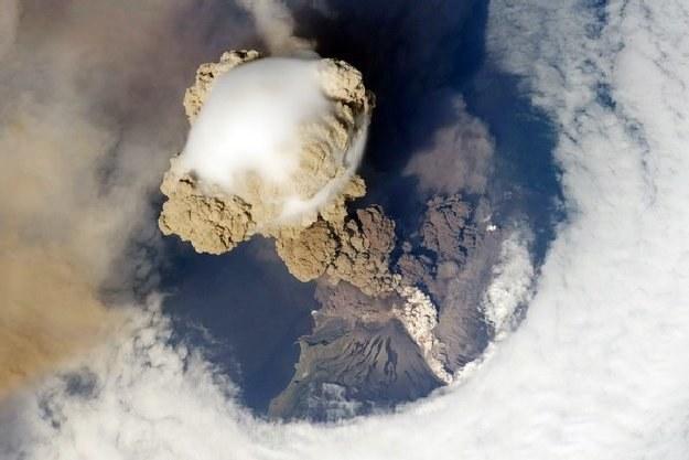 Wybuch wulkanu na Syberii /AFP