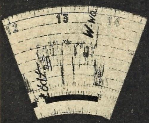 Wycinek wykresu zdjętego z tachografu a przedstawiającego trasę Warszawa-Łódź przebytą w czasie 1 godziny 30 minut, co daje szybkość średnią 91 km/godzinę. /Motor