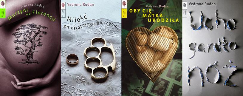 Wydane w Polsce powieści Vedrany Rudan /Wydawnictwo Drzewo Babel
