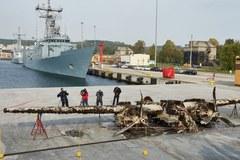 Wydobycie bombowca z dna Bałtyku
