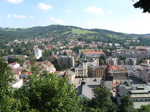 Przepiekny widok  na miasto z wieży widokowej