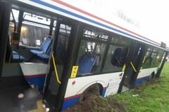 Wypadek autobusu miejskiego w Kołobrzegu