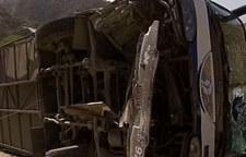 Wypadek autokaru z piłkarzami Huracan. Wideo