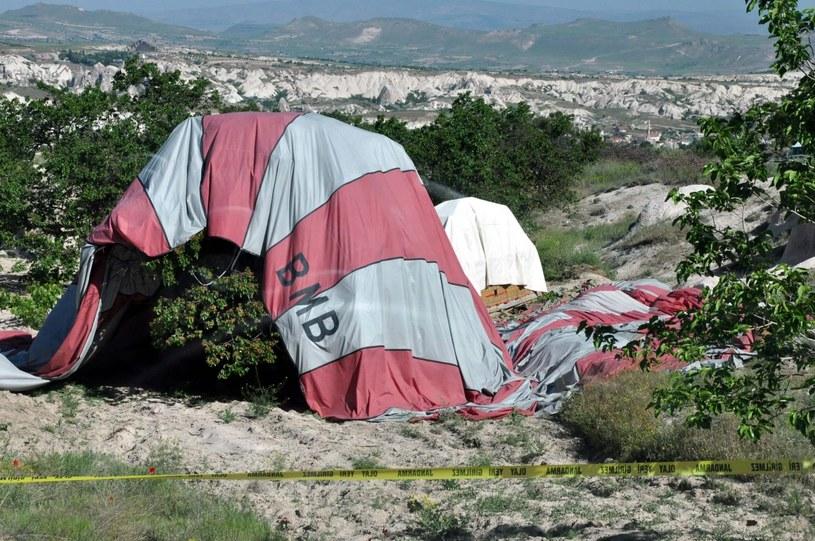 Wypadek balonu w Turcji /PAP/EPA