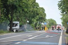 Wypadek cysterny z gazem koło Mińska Mazowieckiego