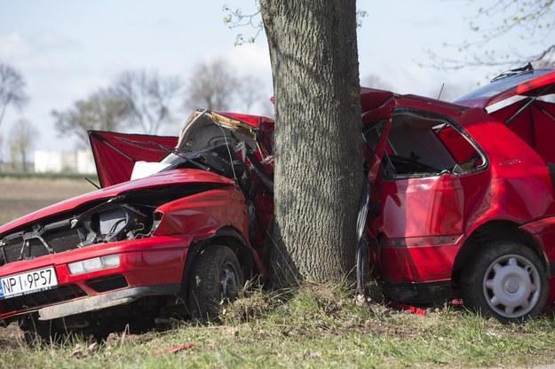Wypadek koło Łomży. Dwie osoby zginęły na miejscu /Marek Maliszewski  /Reporter