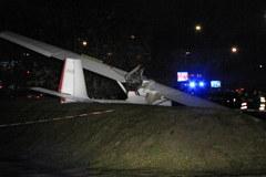 Wypadek motoszybowca obok lotniska Bemowo