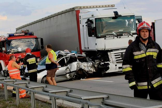 Wypadek na A4 /PAP