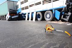 """Wypadek na krajowej """"11"""". Zderzyły się cztery samochody"""