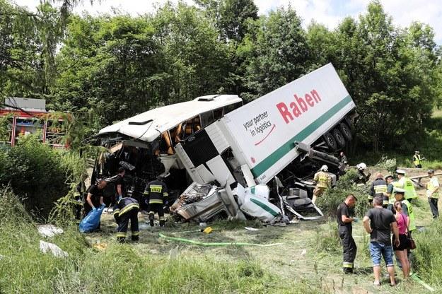 Wypadek na zakopiance /Grzegorz Momot /PAP