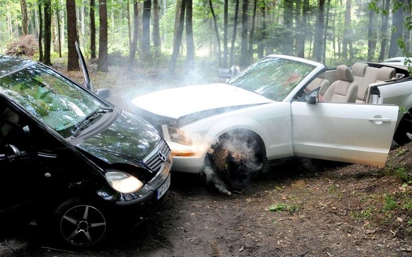 """Wypadek """"Nad rozlewiskiem"""" /Agencja W. Impact"""