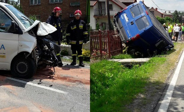 Wypadek trzech samochodów w Małopolsce. Dwie osoby są ranne