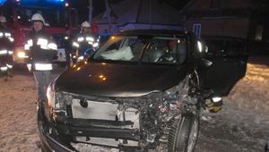 Wypadek w Sokołach. Trzy osoby ranne