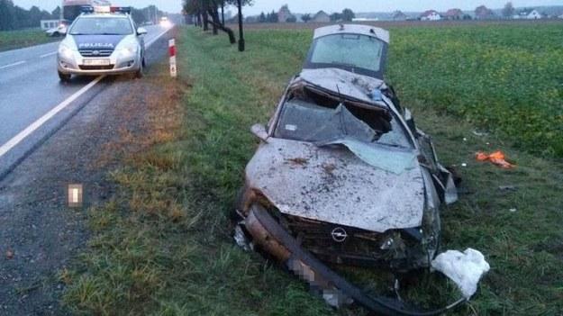 Wypadek w Wojciechowie /Policja