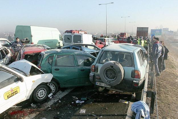 Wypadki na autostradach też się zdarzają. Ale rzadziej /