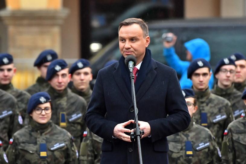 Wystąpienie Andrzeja Dudy w Kamiennej Górze / Maciej Kulczyński    /PAP