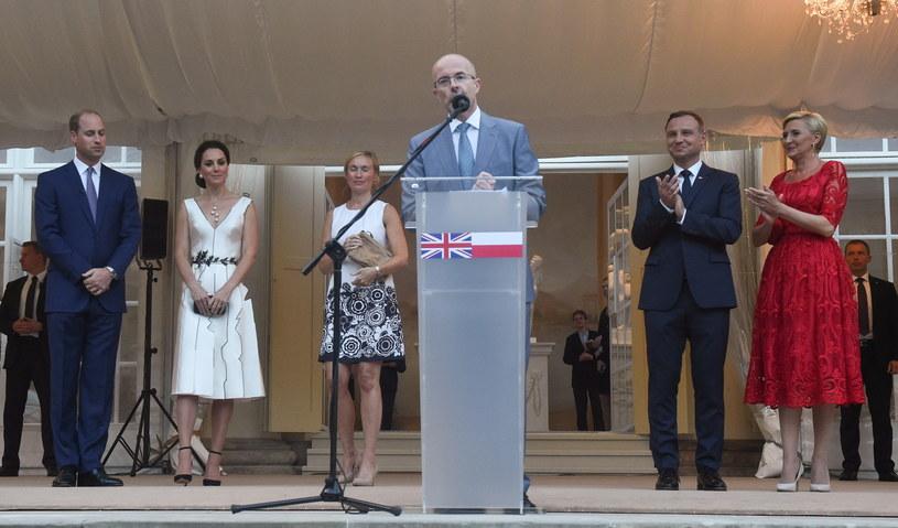 Wystąpienie księcia Williama w Łazienkach Królewskich /Radek Pietruszka /PAP
