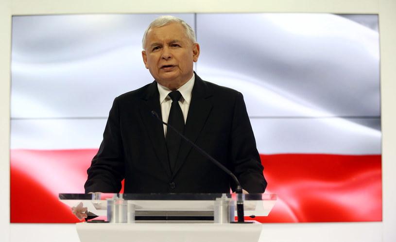 Wystąpienie prezesa PiS Jarosława Kaczyńskiego /Tomasz Gzell /PAP