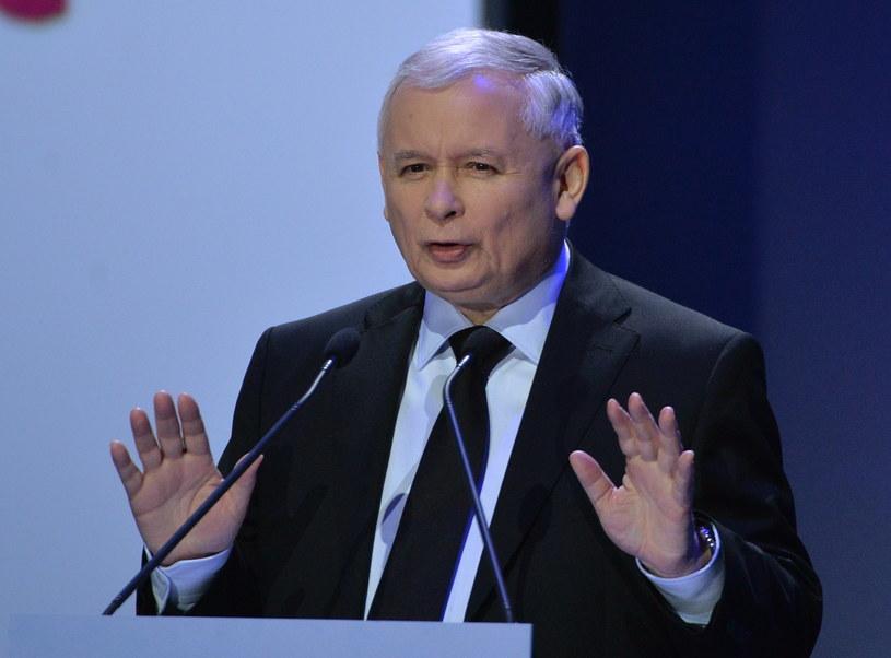 Wystąpienie prezesa PiS Jarosława Kaczyńskiego /Radek Pietruszka /PAP