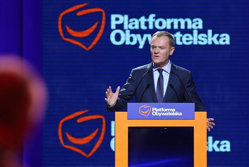 Wystąpienie Tuska podczas Konwencji Krajowej Platformy Obywatelskiej /Rafał Guz /PAP