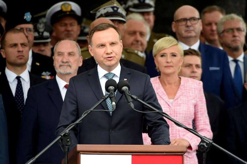 Wystąpienie Zwierzchnika Sił Zbrojnych, prezydenta Andrzeja Dudy /Radek Pietruszka /PAP/EPA