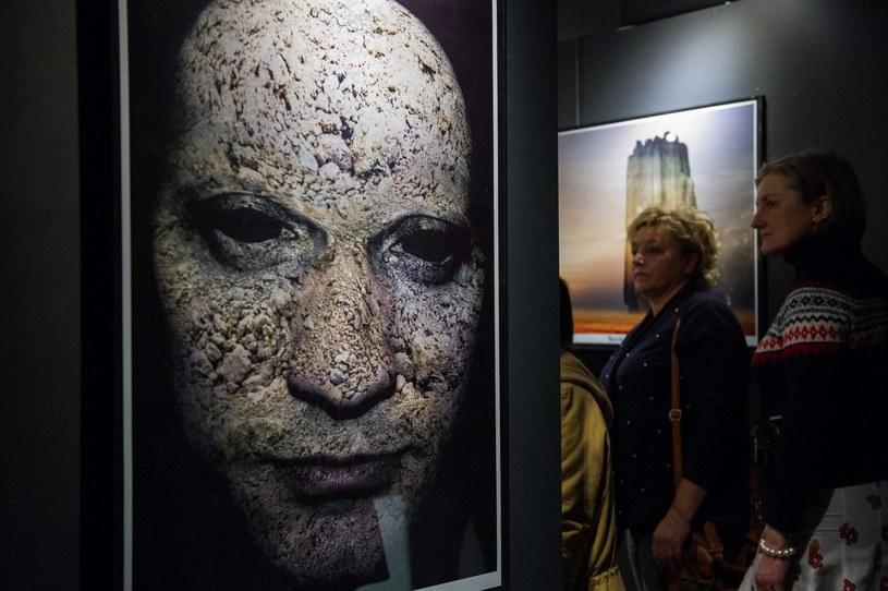 Wystawa prac Zdzisława Beksińskiego/fot. Tadeusz Koniarz /Reporter