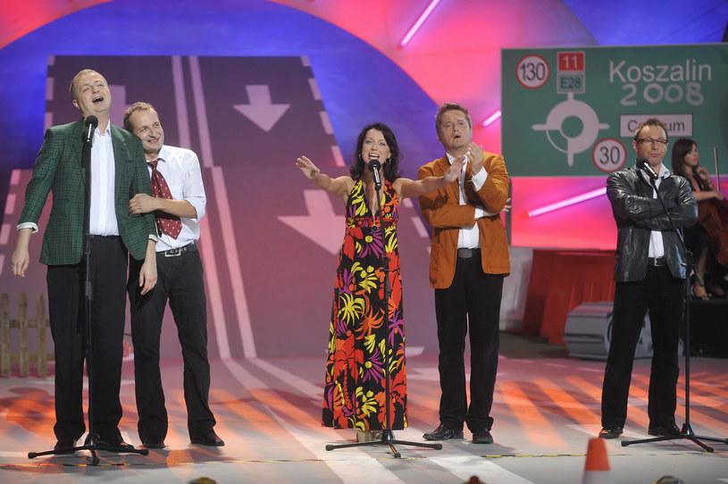 Występ artystów podczas Festiwalu Kabaretu w Koszalinie (2008) /AKPA