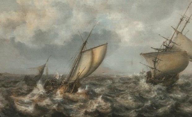 """""""Wzburzone morze z okrętami"""" odzyskane! Obraz zaginął w czasie wojny"""