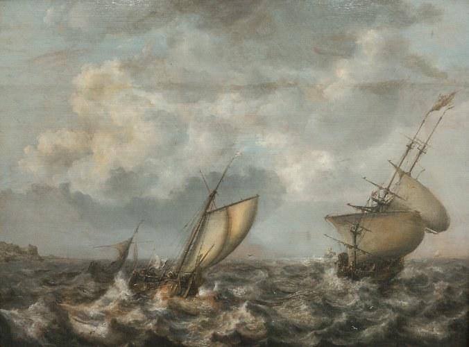 """""""Wzburzone morze z okrętami"""" /http://www.mkidn.gov.pl /"""