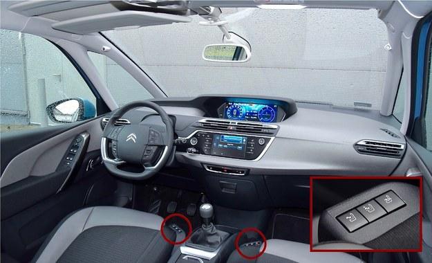 Wzór oraz kolor czytelnych wskaźników można zmieniać. Kierownica jest przeładowana przyciskami i pokrętłami, ale do ich obsługi da się w sumie łatwo przyzwyczaić. Jakość wykonania: dobra. Osoby jadące z przodu mają do dyspozycji regulację lędźwiową i funkcję masażu. /Motor