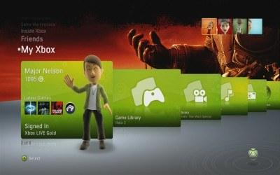 Xbox Live - interfejs /Informacja prasowa
