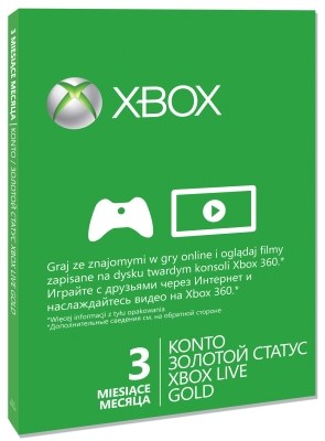 Xbox Live! - trzymiesięczny abonament na usługę MicrosoftU /materiały prasowe