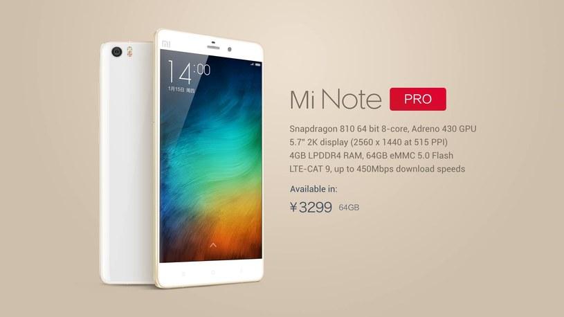 Xiaomi Note Pro /materiały prasowe