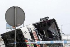 Z autobusu, którym podróżowali kibice niewiele zostało