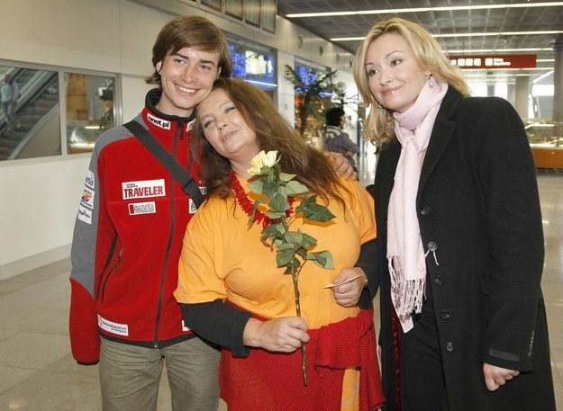 Z Jasiem Melą i Martyną Wojciechowską po powrocie wyprawy na Kilimandżaro, fot. Ida Kurkowska /AKPA
