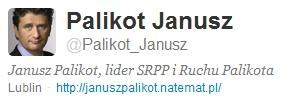 Z konta Janusza Palikota z Twittera /INTERIA.PL