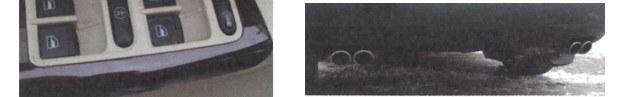 """Z lewej: drewnopodobne tworzywa nie każdemu przypadną do gustu, ale mają symbolizować luksus. Z prawej: W Passacie nie brak jednak efektownych detali. Jeden z nich to umieszczone po obu stronach podwójne końcówki układu """"wydechu"""". /Motor"""