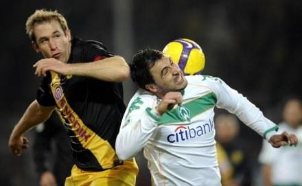Z lewej Florian Kringe - nowy piłkarz Herthy Berlin /AFP